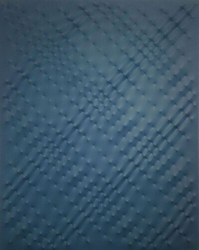Enrico Castellani, 'superficie blu', 1989