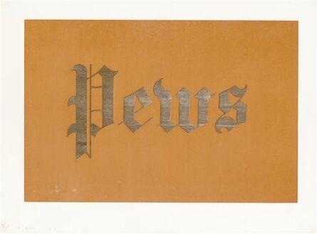 Ed Ruscha, 'Pews, from News, Mews, Pews, Brews, Stews, & Dues', 1970