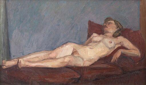 Euan Uglow, 'Reclining Nude', 1949-1950
