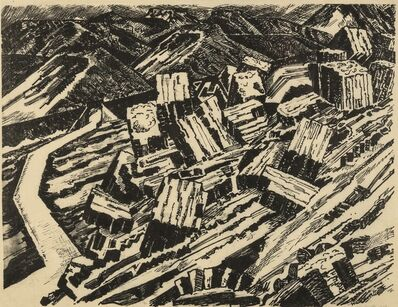 Edward Wadsworth, 'Ladle Slag, Old Hill, I (Colnaghi 146; Greenwood W/C 5)', 1919-1920