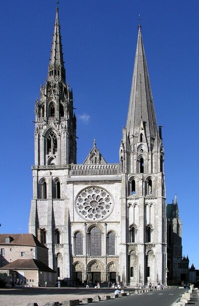 'Chartres Cathedral (the Cathedral of Notre-Dame)', ca. 1134
