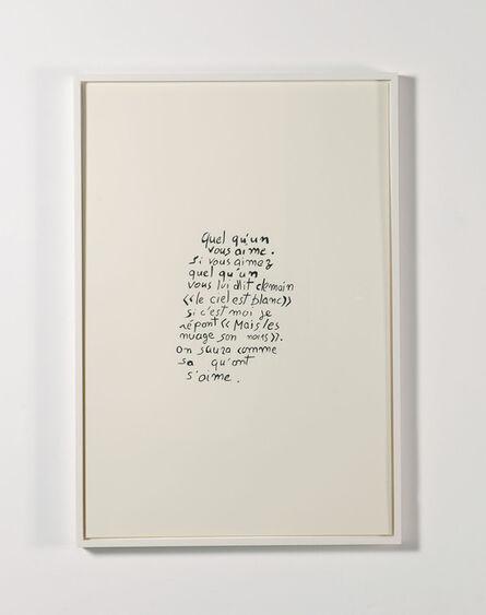 Mekhitar Garabedian, 'Lettre d'Alex, from Les Amants du Pont-Neuf (1991)', 2013 -2014