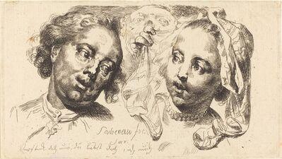 Johann Eleazar Schenau, 'Young Woman Flirting with a Man', 1765