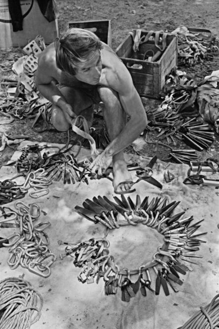 Glen Denny, 'CIRCLE OF PINS (THE SORT OUT - YVON CHOUINARD)', ca. 1960