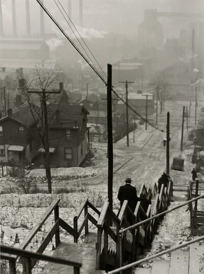 Jack Delano, 'untitled (man walking down stairs)', 1940-1949