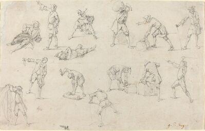 Georg Philipp Rugendas, 'Studies of Soldiers in Camp'