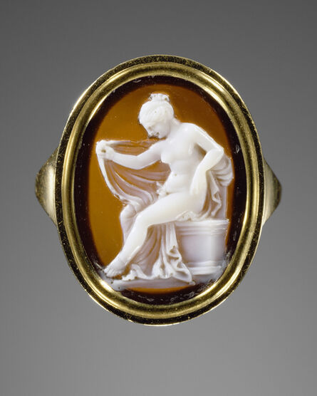 'Cameo set into a ring [Hermaphrodite]', gem 150 -100 BCE
