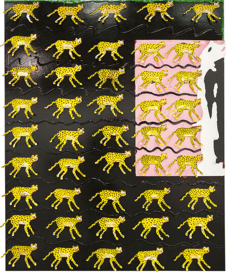 Devin Troy Strother, '45 cheetahs on black', 2015