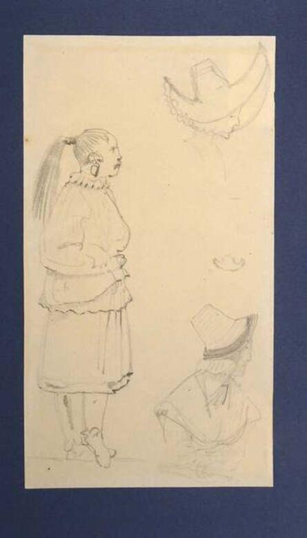 Horace Vernet, 'Caricatures', Mid 1800