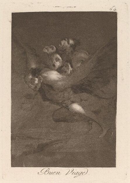 Francisco de Goya, 'Los caprichos: Buen Viage', published 1799
