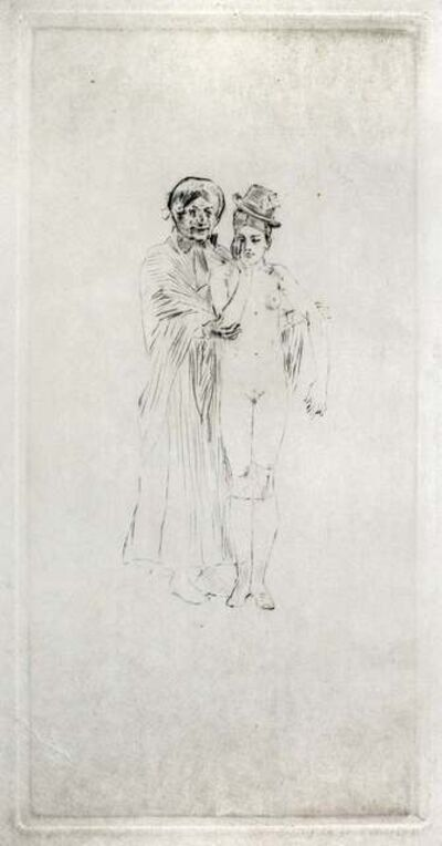 Félicien Rops, 'Ma fille! Monsieur Cabanel', ca. 1850