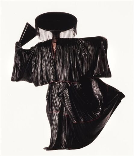 Irving Penn, 'Issey Miyake Design with Black Fan, New York', 1987
