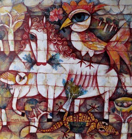 Wang Lan, 'Horse and Bird', 2014