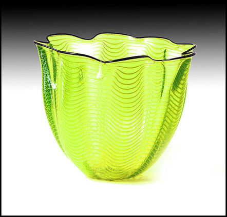 Dale Chihuly, 'Lime Green with Ebony Lip Macchia', Late 20th Century