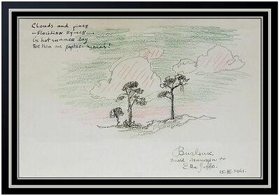 David Burliuk, 'Clouds and Pines', 1961