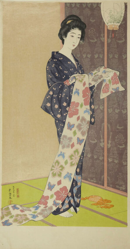 Goyo Hashiguchi, 'Young Woman in a Summer Kimono', 1920