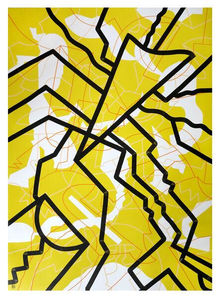 Al Luke, 'Crystal Lattice - Yellow', 2021