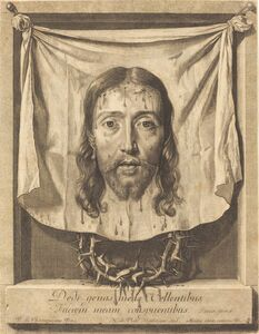 Nicolas de Plattemontagne after Philippe de Champaigne, 'The Veil of Saint Veronica'