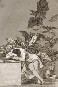 Francisco de Goya, 'The Sleep of Reason Produces Monsters, No. 43 from Los Caprichos (The Caprices)', 1796-1798