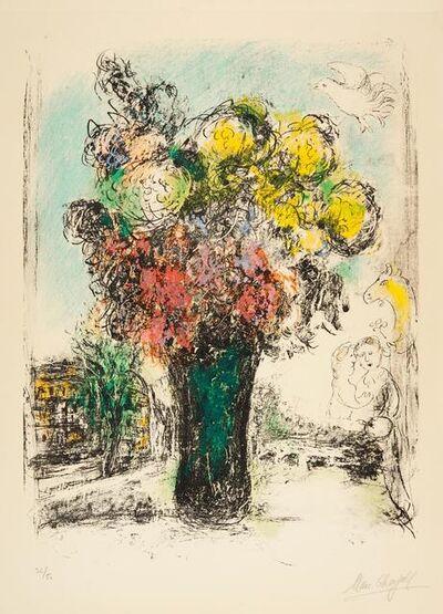 Marc Chagall, 'Le Bouquet rouge et jaune', 1974