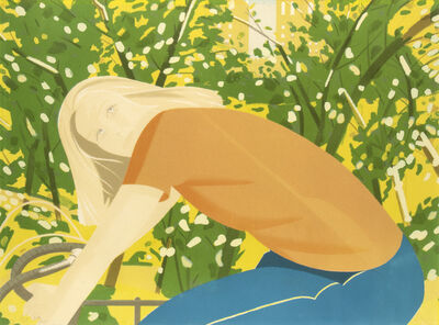 Alex Katz, 'Bicycle Rider (Bicycling in Central Park)', 1982