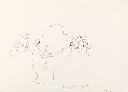 Maria Lassnig, 'Hundegebell im Garten', 1983