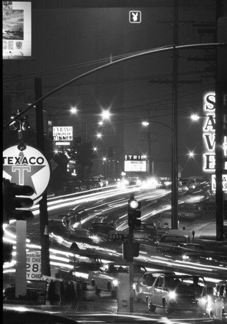 Julian Wasser, 'Sunset Strip at Night, Horn Avenue'