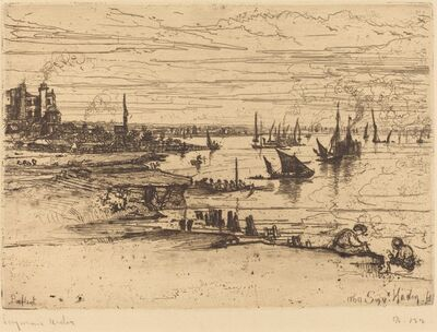 Francis Seymour Haden, 'Opposite the Inn, Purfleet', in or after 1869