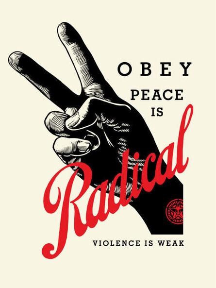 Shepard Fairey, 'Radical Peace - Cream', 2021