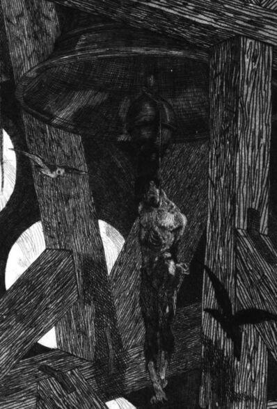 Félicien Rops, 'Le Pendu (The Hanged Man)', 1868