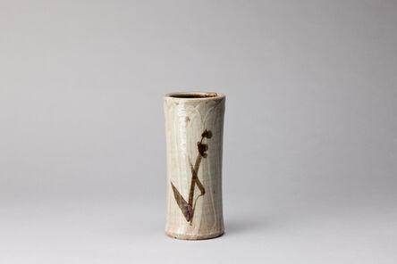 Shōji Hamada, 'Waisted vase, hakeme and tetsue brushwork'
