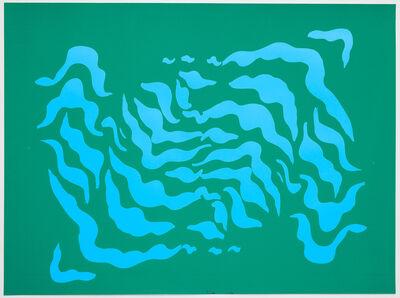 Sarah Crowner, 'Stripe Print (test) 3', 2020