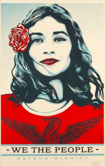 Shepard Fairey, 'Defend Dignity from We the People', 2017