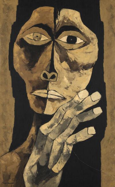 Oswaldo Guayasamín, 'Cabeza y mano', 1987