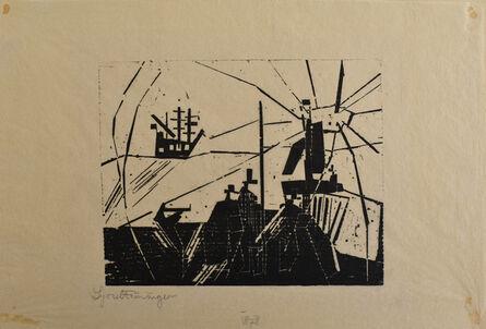 Lyonel Feininger, 'On the Quay   Am Quai', 1918
