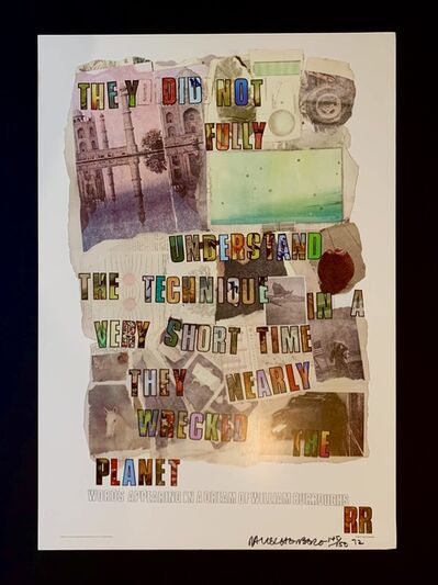 Robert Rauschenberg, 'Words Appearing in a Dream of William Burroughs', 1972