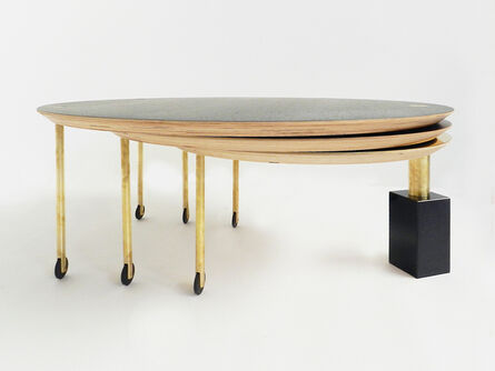 Veruska Gennari, 'Extendable Rolling Coffee Table Model SFG13, Limited Edition of Five', 2014