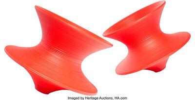 Thomas Heatherwick, 'Pair of Red Spun Chairs', Designed 2007