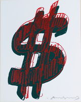 Andy Warhol, 'Dollar Sign, Red (FS II.278)', 1982