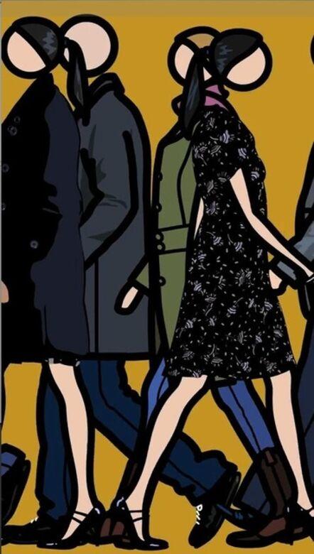 Julian Opie, 'Crowd, coloured 1.', 2012
