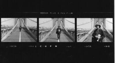 Aldo Tambellini, 'Tambellini on the Brooklyn Bridge', 1972