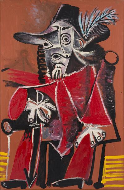 Pablo Picasso, 'Mousquetaire à l'épée assis', 1969