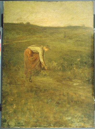 George Fuller, 'Girl Tying Her Shoe'