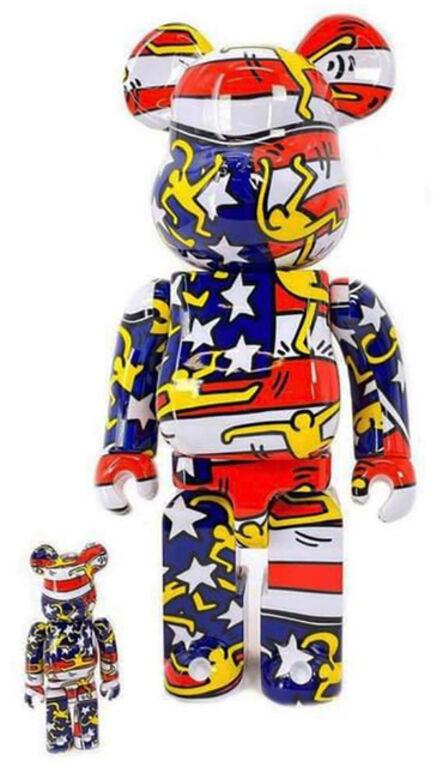 Keith Haring, 'Keith Haring Bearbrick 400% American Flag (Haring DesignerCon BE@RBRICK) ', 2020