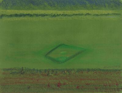 Richard Artschwager, 'Baseball Diamond on Green Paper', 2010