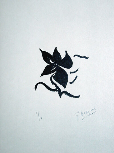 Georges Braque, 'SI JE MOURAIS LA-BAS', 1962