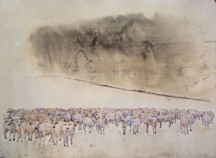 G.R. Iranna, 'Untitled, African Cows', 2014