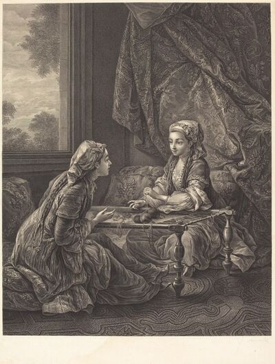 Jacques-Firmin Beauvarlet after Carle Van Loo, 'La Confidence', ca. 1774/1775