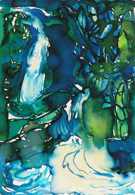 Romare Bearden, 'ISLAND WATERFALL', 1987