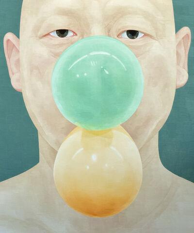 Ungpil Byen, 'Selfportrait as someone- balloon 2', 2016